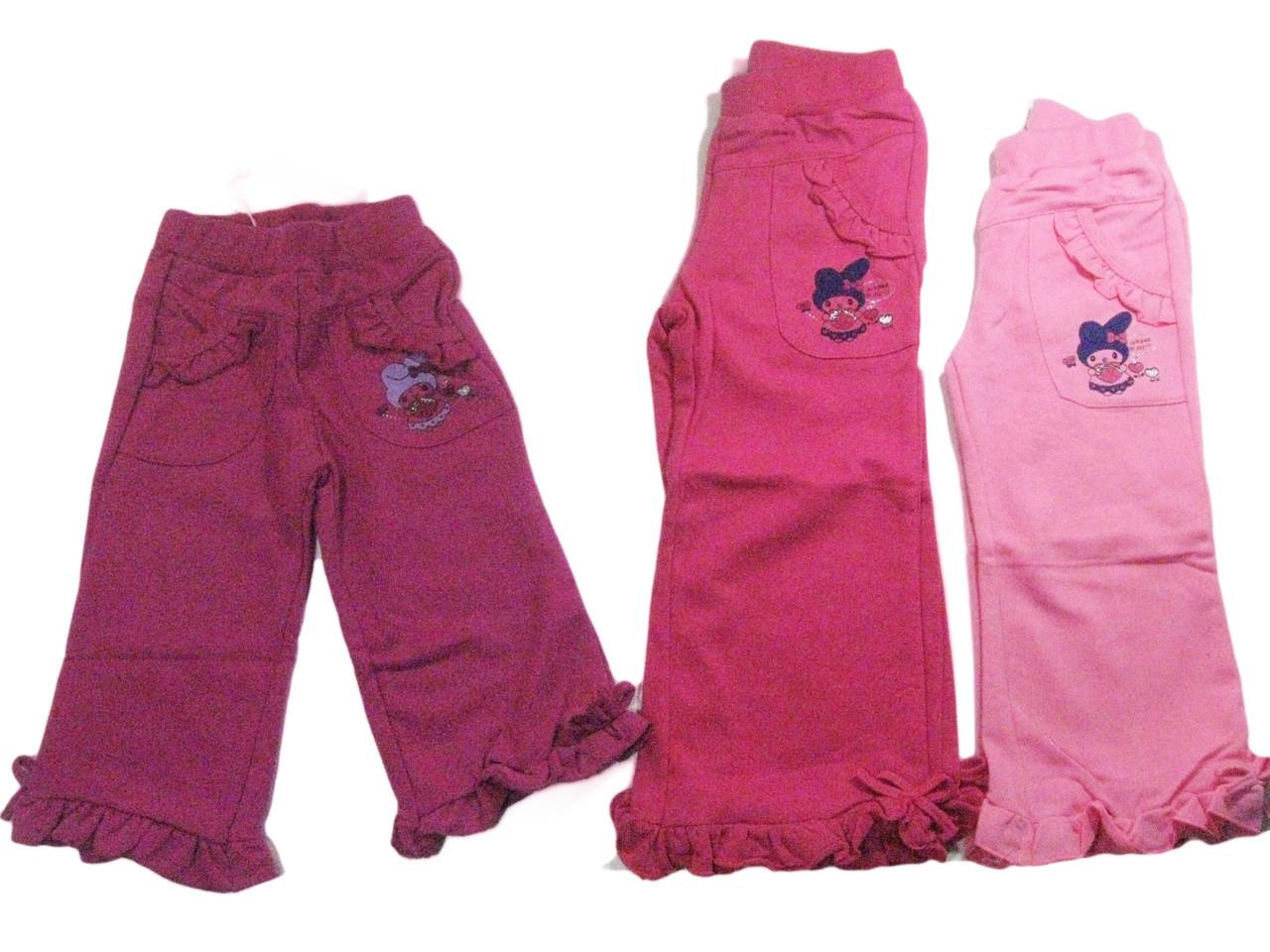 Трикотажные брюки для девочек, размеры 6/9,12,12,18,24 мес, арт. G-2254
