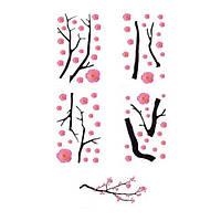 """ИКЕА """"СЛЭТГУЛЬТ"""" Декоративные наклейки, розовые цветы"""