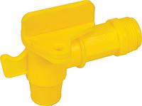 Кран пластиковый для бочки 3/4, М10х1 GROZ 44387 FAU/3-4.