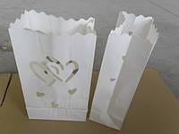 Пакет-фонарик для свечи (сердца)