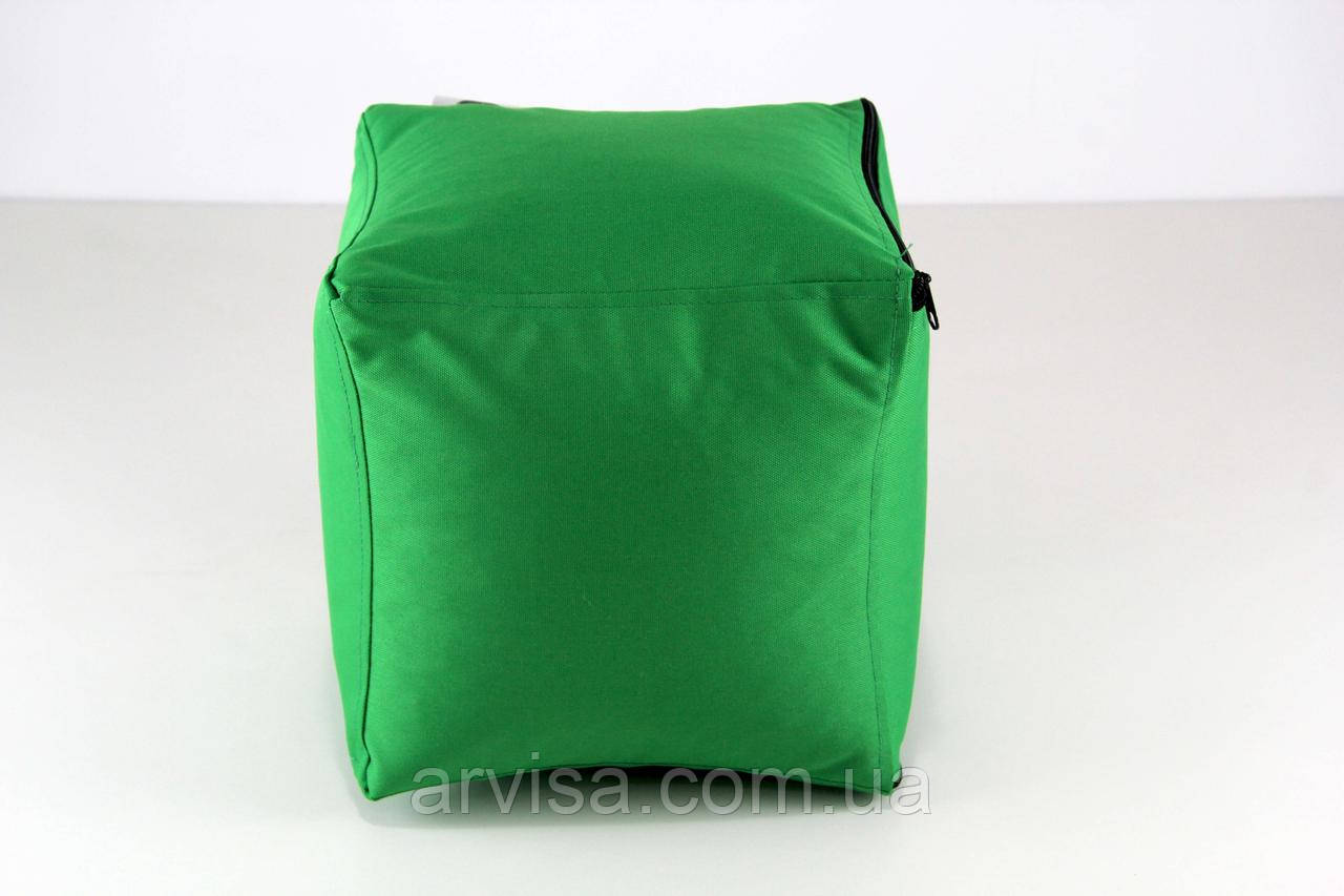 "Зеленый пуф, мягкий пуфик ""Кубик"" 25х25см"