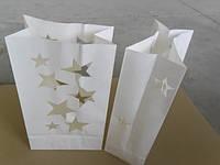 Пакет-фонарик для свечи (звезды)