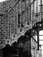 Литая маршевая чугунная лестница, фото 1