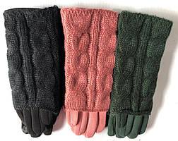 Перчатки сенсорные женские трикотаж 2в1 оптом со склада в Одессе
