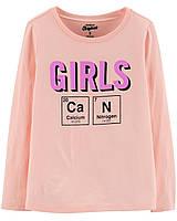 Трикотажная футболка с длинным рукавом ОшКош для девочки