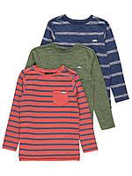 Набор трикотажных футболок с длинным рукавом George для мальчика