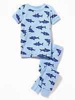 Голубая пижамка с коротким рукавом Акулки Old Navy для мальчика