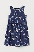 Летнее трикотажное платье Бабочки HM для девочки
