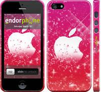 "Чехол на iPhone 5 pink apple ""1620c-18"""