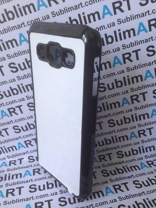 Чехол для 2D сублимации пластиковый на Samsung Galaxy E5 черный, фото 2