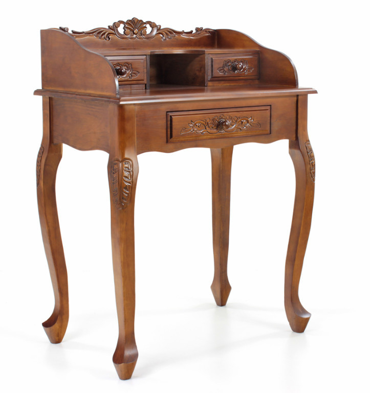 Секретер  резной коричневый в классическом стиле
