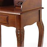 Секретер  резной коричневый в классическом стиле, фото 5