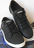 """Мужские кроссовки Adidas """"Stan Smith"""" черный нубук"""