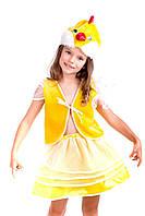 Дитячий карнавальний костюм Курочка Курча для дівчаток 3,4,5,6,7 років