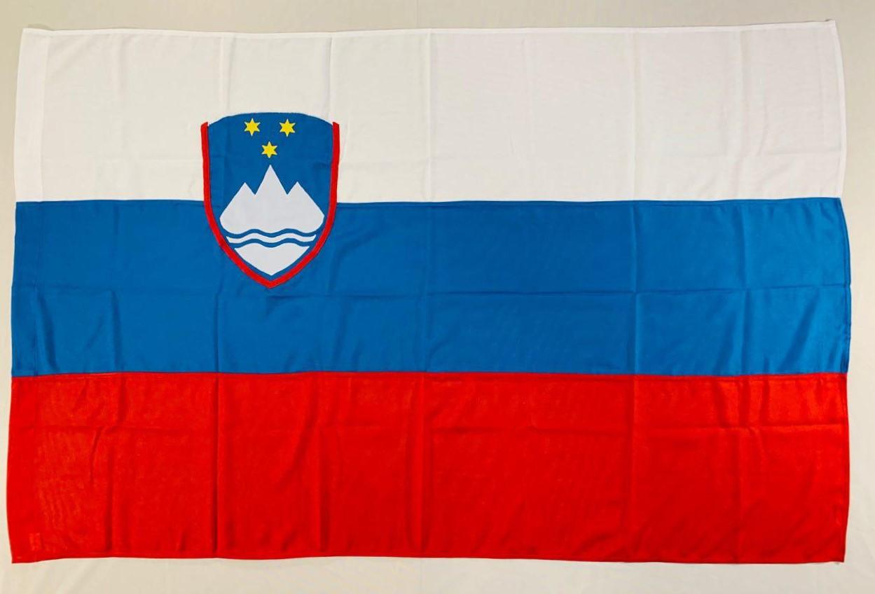 Прапор Словенії (Аплікація) - 1м*1.5м