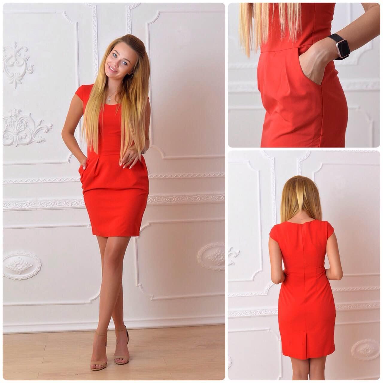 Платье модель 746, красный