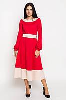 Платье Эмилия (PE2851, красный\беж)