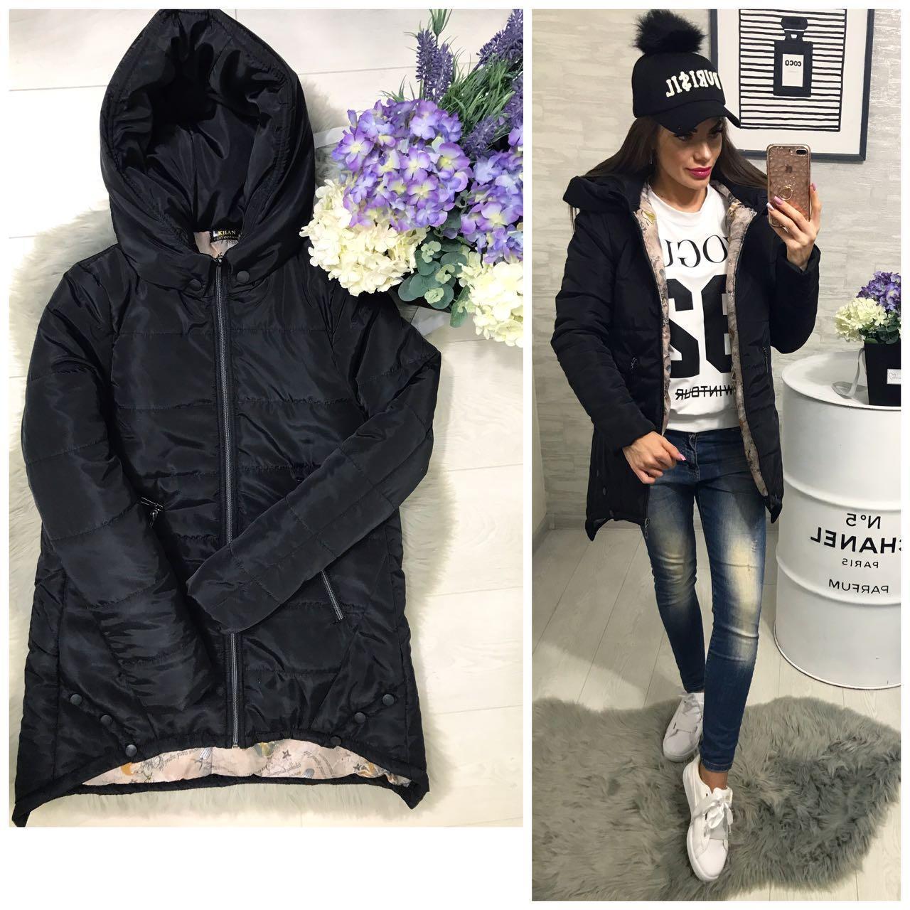 Куртка парка женская (305) зима черный