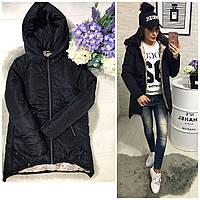 Куртка парка женская (305) зима черный, фото 1