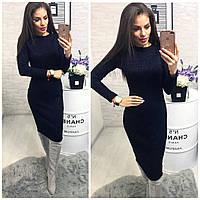 Платье 800/2 ангора софт люрекс синий, фото 1