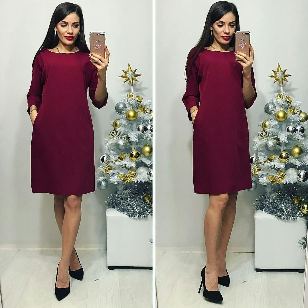 Сукня жіноча, модель 772 , марсала