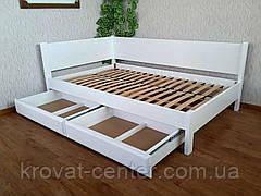 """Белая двуспальная кровать из дерева с выдвижными ящиками """"Шанталь"""", фото 2"""