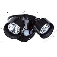 Двойной светильник с датчиком движения - уличный светильник - 199 грн.