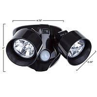 Подвійний світильник з датчиком руху - вуличний світильник - 199 грн.