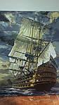 """Как рисовалась картина по номерам на холсте Babylon """"Военный фрегат"""" VP181"""