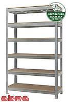 Стеллаж металлический для склада/магазина/гаража ЧК-300 1960х1440х600, оцинк.,6 полок ДСП, до 440 кг/полку