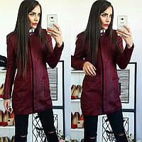 Кардиган женский, модель 07, бордо