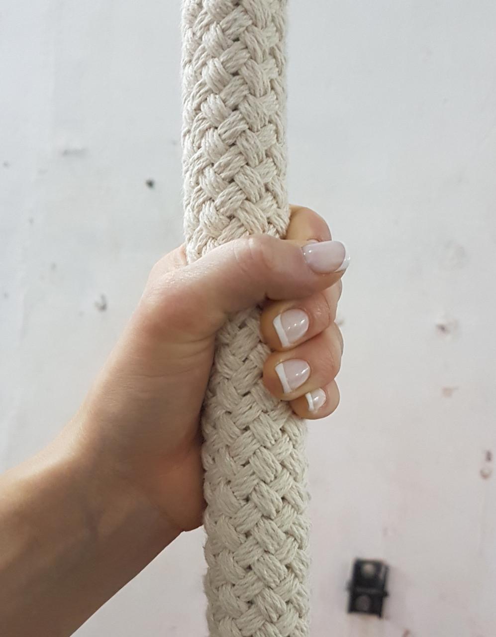 Канат для воздушной гимнастики Белый 36мм 100% Хлопок 9м