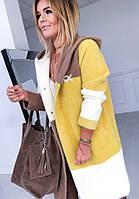 Стильный женский кардиган-кофта из ангорки .Альпака