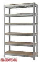 Стеллаж металлический для склада/магазина/гаража ЧК-300 1960х1440х720, оцинк.,6 полок ДСП, до 440 кг/полку