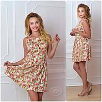 Платье летнее, модель 744, розовый, фото 1
