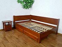 """Двуспальная кровать из натурального дерева с ящиками """"Шанталь"""""""