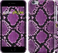 """Чехол на iPhone 6 Фиолетовая кожа змеи """"1005c-45"""""""