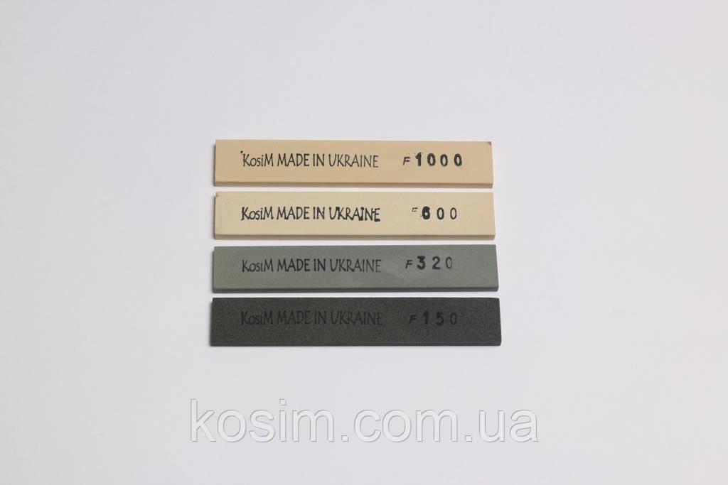 Водные  точильные камни KosiM для точилок типа Apex, Ruixin бруски 6 мм. Набор 4 шт.