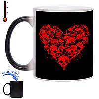 Чашка хамелеон Кровавое сердце 330 мл