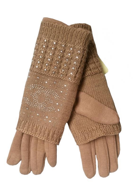 Рукавички жіночі коричневі, жіночі рукавички
