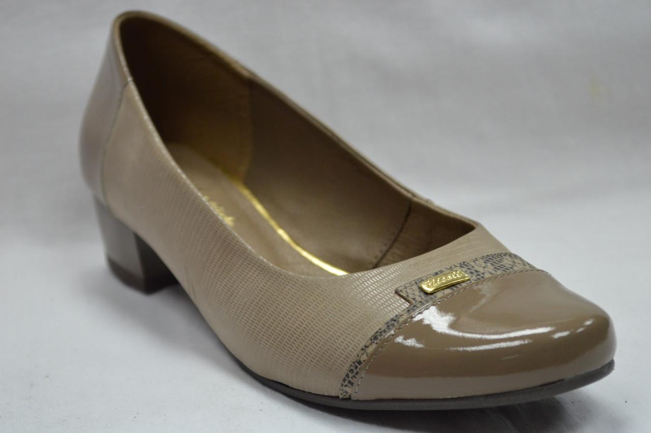 Туфли женские кожаные на низком каблуке (3 цвета) Польша.Стандартные и большие  размеры ... 2172eb66edd