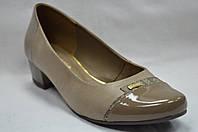 Туфли женские кожаные на низком каблуке (3 цвета) Польша.Стандартные и большие размеры.
