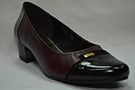 Туфли женские кожаные на низком каблуке (3 цвета) Польша.Стандартные и большие размеры., фото 1