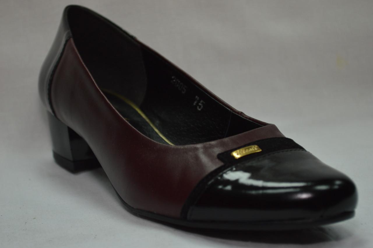 Туфли женские кожаные на низком каблуке (3 цвета) Польша.Стандартные и большие  размеры. c4f0349b332