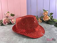 Шляпа диско с пайетками головной убор для вечерки карнавальная шляпа