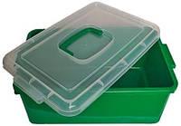Контейнер пластиковый большой Gigo цвет зелёный, фото 1
