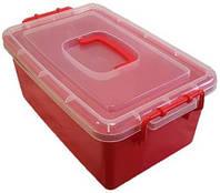 Контейнер пластиковый большой Gigo цвет красный, фото 1