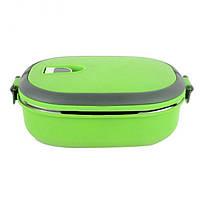 Пластиковый пищевой контейнер для еды 900 мл (1002769-LightGreen-0)