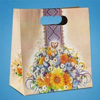 Пакет для свадебного каравая или сладостей в золотистых тонах