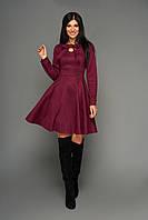 Платье женское молодёжное р. от 42 до 50, под замш, сливового цвета